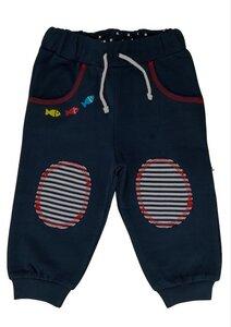 Baby Jogginghose marine mit Knieschoner Bio Baumwolle - EBi & EBi