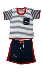 Baby T-Shirt u. Shorts marine Bio Baumwolle - EBi & EBi