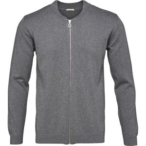 Cotton/Cashmere Cardigan - Dark Grey Melange - KnowledgeCotton Apparel