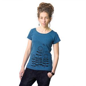 Damen T-Shirt Waldblumen in indigo - Cmig