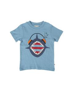 Kurzarm Tshirt mit Hai - Frugi