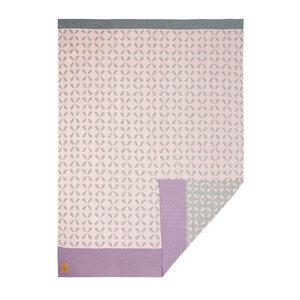 Lässig Die hochwertige,Sparkles Light Peach  beidseitig verwendbare Babydecke (75 x 100 cm) aus Bio-Baumwolle - Lässig