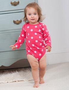 Baby body pink polkadot - Frugi