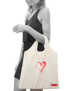 Canvas Tasche | Bio Fair | Heart & Broken Heart  - milch Basics