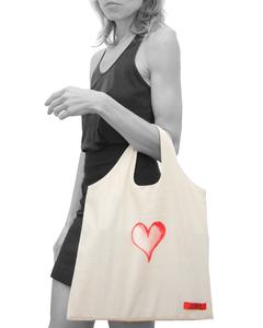 Canvas Tasche | Bio Fair | Heart & Broken Heart  - milch Basics