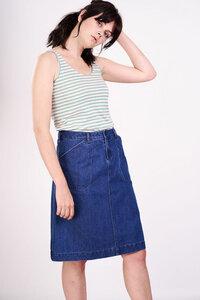 Jessie A-Line Denim Skirt  - bibico