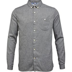 Melange Effect Flannel Shirt - Dark Grey Melange - KnowledgeCotton Apparel
