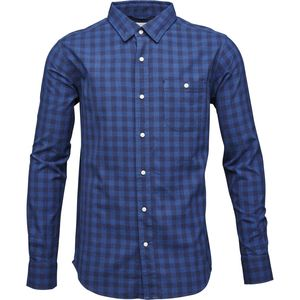 Checked Shirt - Peacoat - KnowledgeCotton Apparel