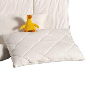 Schurwollsteppkissen MIRA mit Wollkügelchen-Füllung, passend zur Bettdecke - Prolana