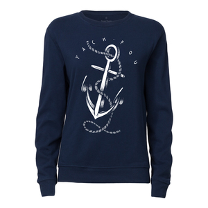 Yackfou Anker Damen Rundhals Sweatshirt navy Bio & Fair - Yackfou