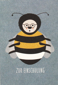 Postkarte Hummel - Zur Einschulung - ava&yves