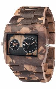 Holz-Armbanduhr JUPITER NATURE CAMO NUT | 100% hautverträglich - Wewood