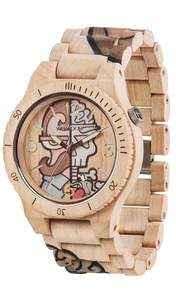 Holz-Armbanduhr ALPHA WOOP MISTER PHIL | 100% hautverträglich - Wewood