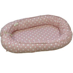 Babynest/Bettbegrenzung Sterne rosa - little one®
