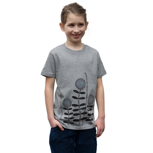 Kinder T-Shirt Waldwiese in grau meliert - Cmig