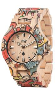 Holz-Armbanduhr DATE WOOP LOVE   100% hautverträglich - Wewood