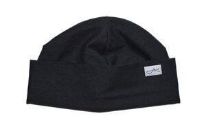 Sommer-Mütze schwarz - Beanie Made in Germany - Weich & sehr bequem  - Lou-i