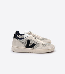 V-10 FLANNEL SNOW NATURAL BLACK  - Veja