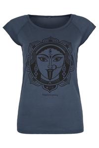 Yoga T-Shirt blau Kali schwarz - YogiCompany