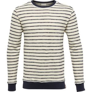 Striped Sweat Total Eclipse - KnowledgeCotton Apparel