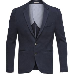 Knitted Blazer - Total Eclipse - KnowledgeCotton Apparel
