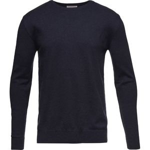 Strickpullover - Basic O-Neck Cotton/Cashmere  - Total Eclipse - KnowledgeCotton Apparel