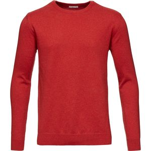 Basic O-Neck Cotton/Cashmere - GOTS - Pompeain Red - KnowledgeCotton Apparel