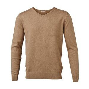 2d6dff0b832fe7 Basic V-Neck Cashmere Cotton - GOTS - Desert Sand - KnowledgeCotton Apparel