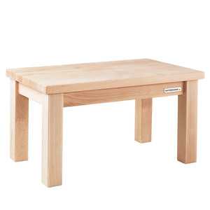 Kinder-Sitzbank Fußbank ECO aus massivem Buchen-Holz Oberfläche unbehandelt 43 x 26 x 24 cm - NATUREHOME