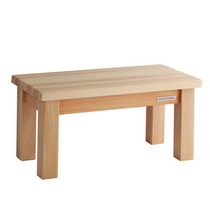 Kinder-Sitzbank Fußbank ECO aus Buchen-Holz Natur geölt 40 x 20 x 20 cm - NATUREHOME