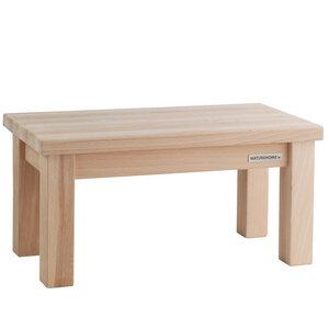 Kinder-Sitzbank Fußbank ECO aus Buchen-Holz unbehandelt 40 x 20 x 20 cm - NATUREHOME