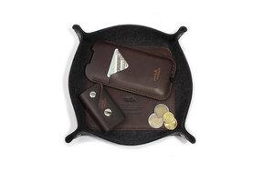 Schlüsselablage, Taschenleerer CORBY - 100% Merino Wollfilz, Leder - Pack & Smooch