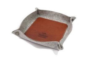 Schlüsselablage, Taschenleerer CORBY - 100% Merino Wollfilz (Mulesing-frei), Leder - Pack & Smooch