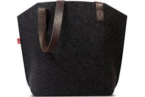 Shopper Umhängetasche YORK 100% Wollfilz (Mulesing-frei), Leder - Pack & Smooch