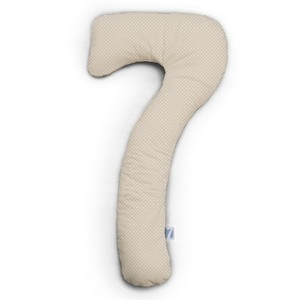 my7  Seitenschläferkissen -Punkte beige Jersey 150 cm x 80 cm   - Theraline