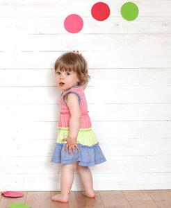 Kleid Koralle geringelt - People Wear Organic