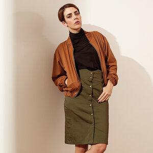 Rock mit Knöpfen hohe Taille  - SinWeaver alternative fashion
