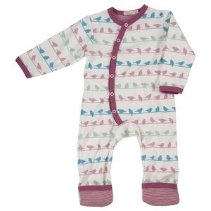 Bio Baby Strampler 'Vogel' - Pigeon by Organics for Kids