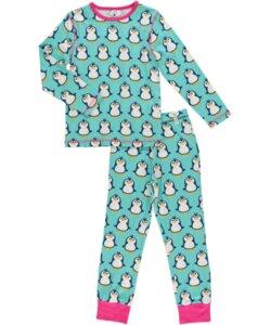 Bio Kinder Schlafanzug mit Pinguin-Motiv - maxomorra