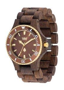 Holz-Armbanduhr DATE MB CHOCO ROUGH BROWN   100% hautverträglich - Wewood
