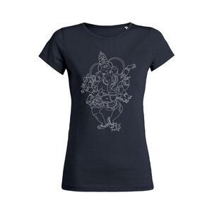 yoga108 T-Shirt - Dancing Ganesh - navy - yoga108