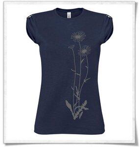 Blumen / Navy & Grau / T-Shirt - Picopoc