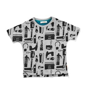 T-Shirt aus Biobaumwolle mit Elektro print - filius feez