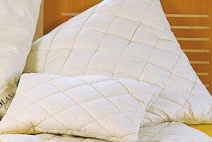 Baumwoll-Steppkissen mit Baumwoll-Füllung ideal auch für Bauchschläfer, 3 Größen wählbar - Prolana