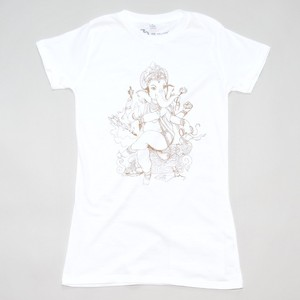 Women T-Shirt GANESHA weiß - MR. NELSON ecowear