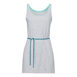 ThokkThokk TT34 Tank Top Dress Grey Melange Spotted - THOKKTHOKK