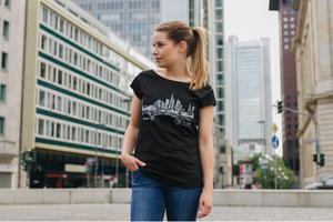 Frankfurt am Main Cap Sleeve Shirt Bio & Fair _black  - ilovemixtapes