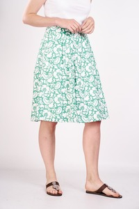 Floral print pleated skirt  - bibico