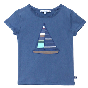 Bio Kinder T-Shirt mit Segelboot-Motiv - Enfant Terrible