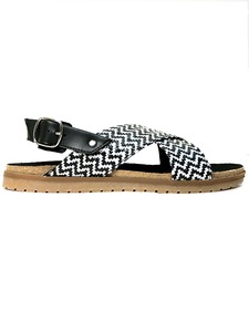 Huarache Footbeds B&W - Wills Vegan Shoes